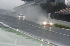 V de V ENDURANCE SERIES - ENDURANCE GT TOURISME. Heavy Rain conditions at Endurance GT Tourisme at V de V Endurance Series that celebrates at Circuit de Stock Photo