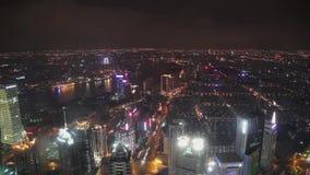 V?deo de Timelapse de Shangai CBD en la noche almacen de video