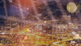 V?deo del horizonte de la ciudad ilustración del vector