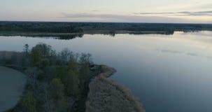 V?deo a?reo hermoso de Katrineholm, Suecia, Escandinavia almacen de metraje de vídeo