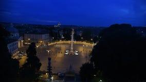 V in der Rom-Nachtansicht stock video