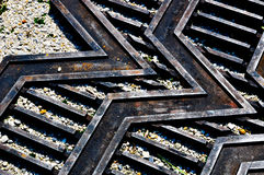 V design water drain. A V design water drain use as accessory or decorations on the park Royalty Free Stock Photography