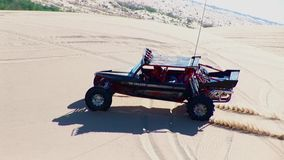 V8 Dune Rod 4 - Glamis Dunes California. V8 Dune Rod 4 - Glamis Dunes Southern California n©2016 J.S.Edmondson stock video footage