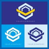 V e projeto sextavado do logotipo de O Imagens de Stock
