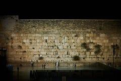 v el Sabat en la noche, Jerusalén Foto de archivo