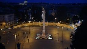 V en la opinión de la noche de Roma metrajes