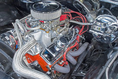 V8 engine compartment Stock Images