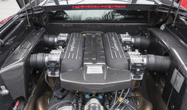 V12 engine of Lamborghini Murcielago Royalty Free Stock Photography