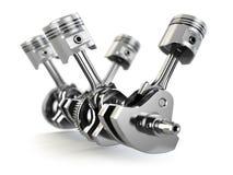 V4 engine pistons and cog royalty free illustration