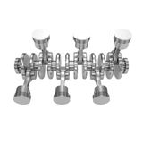 V6 engine pistons isolated on white. Background Royalty Free Stock Images