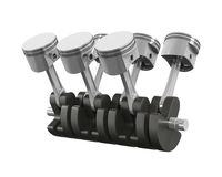 V6 Engine Pistons Royalty Free Stock Images