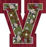 V est pour Viking Illustration Stock