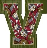 V est pour Viking Illustration Libre de Droits