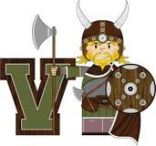 V est pour Viking Illustration de Vecteur