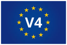 V4 EU flag Stock Photo