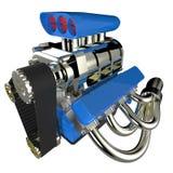 V8 för varm stång motor stock illustrationer