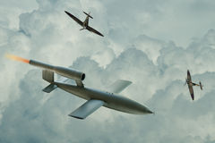 V1 Flying Bomb Stock Image