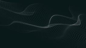 V?g av partiklar Futuristisk punktv?g ocks? vektor f?r coreldrawillustration Abstrakt bakgrund med en dynamisk v?g V?g 3d vektor illustrationer