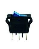 12V gelijkstroom-Schakelaar blauw licht Royalty-vrije Stock Foto