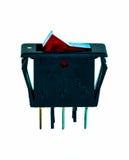 12V gelijkstroom-Schakelaarrood licht Stock Foto