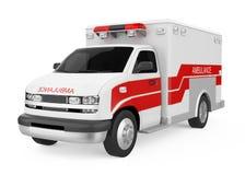 V?hicule d'ambulance d'isolement illustration de vecteur