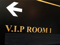 V.I.P room sign. With arrow. Celebrity concept. Copy space royalty free stock image