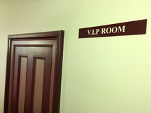 V.I.P room and sign. Celebrity concept. Copy space royalty free stock photo