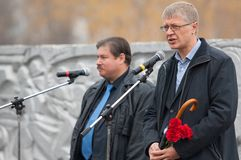 V Klimov en R Korodchenkov Stock Foto
