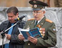 V Klimov en Wachten Kolonel V Kosarev Royalty-vrije Stock Foto's