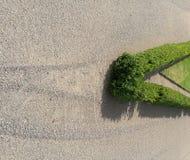 V kształtujący trawy ogrodzenie Zdjęcie Royalty Free