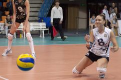 V. Kuzyakina (8) miss a ball Stock Photos