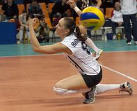 V. Kuzyakina (8) miss a ball Royalty Free Stock Image
