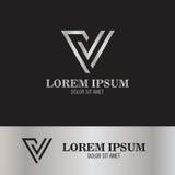 V línea logotipo Foto de archivo