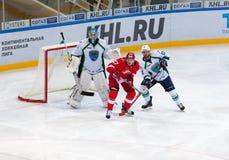 V Leschenko (27) contra A Ugolnikov (13) Imagens de Stock