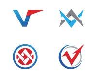 V Letter Logo Template. V Letter Logo Business Template Vector icon Royalty Free Stock Photos
