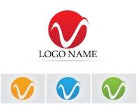 V listów biznesowy logo i symbolu szablon Obraz Royalty Free
