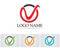 V listów biznesowy logo i symbolu szablon Obraz Stock