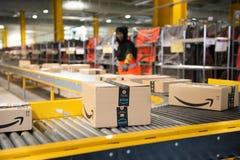 Free Vélizy, FRANCE Sept. 23th 2019 :  Logistics Activity On Amazon Site Stock Image - 185864091