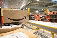 Free Vélizy, FRANCE Sept. 23th 2019 :  Logistics Activity On Amazon Site Stock Photography - 185864292