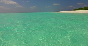 V02251 Maldives beautiful beach background white sandy tropical paradise island with blue sky sea water ocean 4k stock video footage