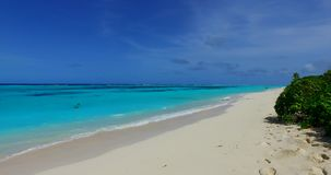 V02331 Maldives beautiful beach background white sandy tropical paradise island with blue sky sea water ocean 4k stock video footage
