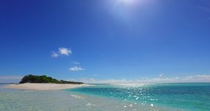 V02260 Maldives beautiful beach background white sandy tropical paradise island with blue sky sea water ocean 4k stock footage