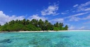 V02127 Maldives beautiful beach background white sandy tropical paradise island with blue sky sea water ocean 4k stock footage