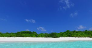 V02432 Maldives beautiful beach background white sandy tropical paradise island with blue sky sea water ocean 4k stock video footage