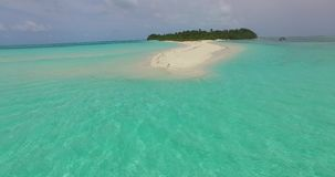 V00350 Maldives beautiful beach background white sandy tropical paradise island with blue sky sea water ocean 4k aerial. Maldives beautiful beach background Royalty Free Stock Image
