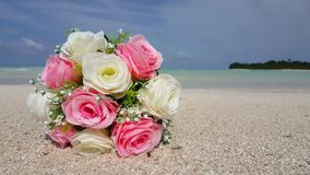 V00601 Maldives beautiful beach background white sandy tropical paradise island with blue sky sea water ocean 4k bouquet Stock Photography