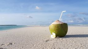 V00963 Maldives beautiful beach background white sandy tropical paradise island with blue sky sea water ocean 4k coconut Stock Photography