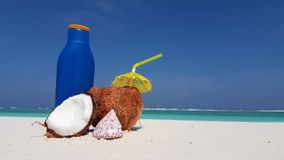 V02419 Maldives beautiful beach background white sandy tropical paradise island with blue sky sea water ocean 4k coconut. Maldives beautiful beach background stock footage