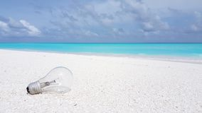 V00951 Maldives beautiful beach background white sandy tropical paradise island with blue sky sea water ocean 4k Royalty Free Stock Photography
