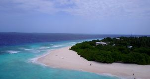 V15409 maldives white sand beach tropical islands with drone aerial flying birds eye view with aqua blue sea water and. Maldives white sand beach tropical stock video